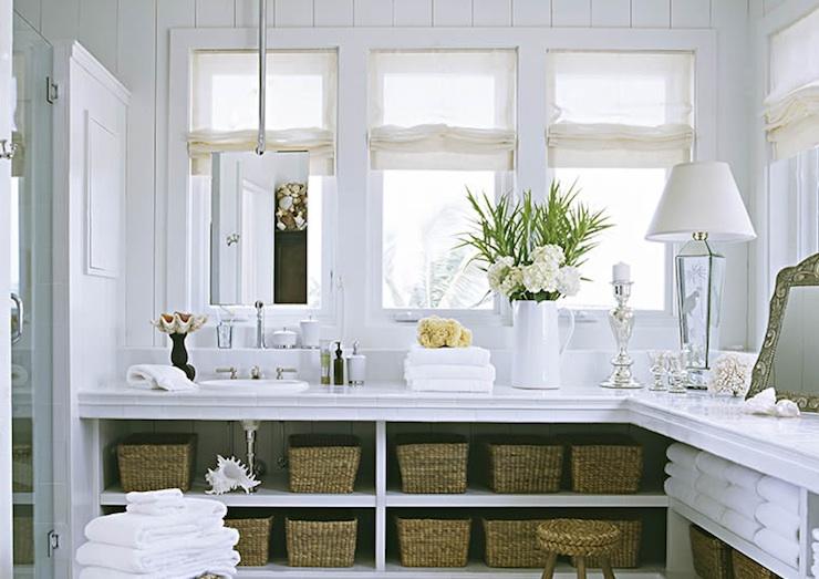 l shaped vanity cottage bathroom jackie lanham. Black Bedroom Furniture Sets. Home Design Ideas