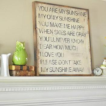 Art/Wall Decor - Sunshine Sign by BetweenYouAndMeSigns on Etsy - you are my sunshine, art