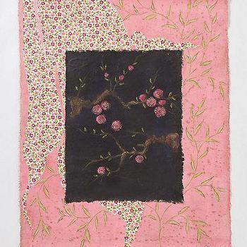 Art/Wall Decor - Petites Fleurs De Pechers By Aurelie Alvarez - Anthropologie.com - petites, fleurs de pechers, wall, tapestry