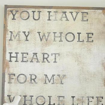 Art/Wall Decor - Whole Heart Sign by BetweenYouAndMeSigns on Etsy - whole, art, art