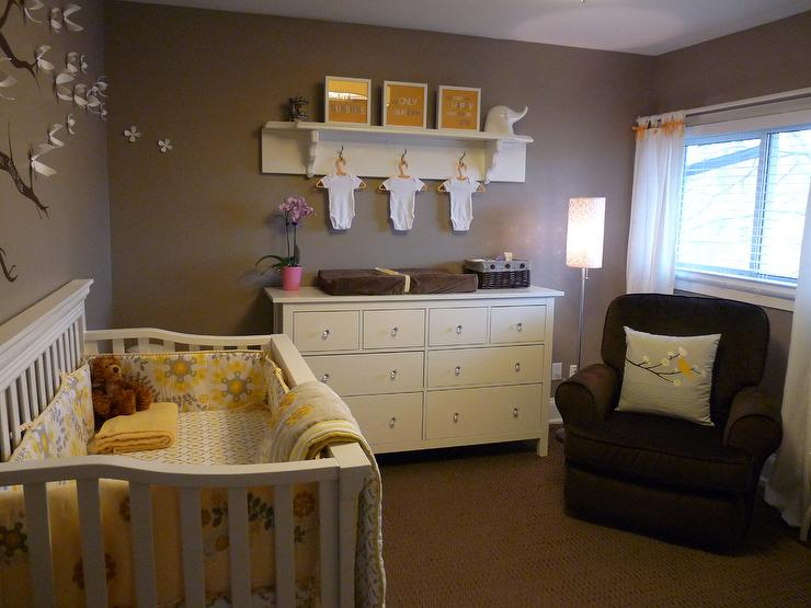 Ashley Gray Contemporary Nursery Benjamin Moore