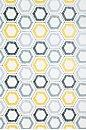 Wallpaper - Kreme Hexagon Sketch Wallpaper - Urban Outfitters - kreme, hexagon, sketch, wallpaper