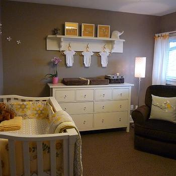 Kimberly Murdoch - nurseries - Dresser, Crib, Rug, Glider, Crib bedding, ashley gray, gray paint colors, gray nursery paint colors, gray paints, gray nursery walls,