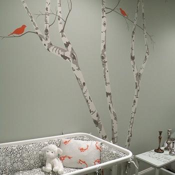 Tree Wall Stencil, Contemporary, nursery, Color Theory Boston
