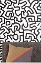 Art/Wall Decor - Keith Haring Pattern Wall Decal - Urban Outfitters - keith haring, pattern, wall decal