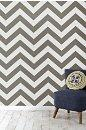 Wallpaper - Zee Wallpaper - Urban Outfitters - silver, chevron, zee, wallpaper
