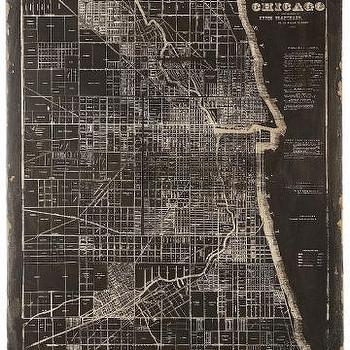 Art/Wall Decor - Map of Chicago Wall Plaque - Unframed Art - Wall Decor - Home Decor | HomeDecorators.com - chicago, map, wall, plaque