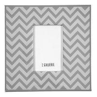 Decor/Accessories - Z Gallerie - Zig Zag Frame - Grey - gray, zig zag, frame