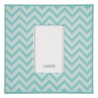Decor/Accessories - Z Gallerie - Zig Zag Frame - Aquamarine - aquamarine, zig zag, frame