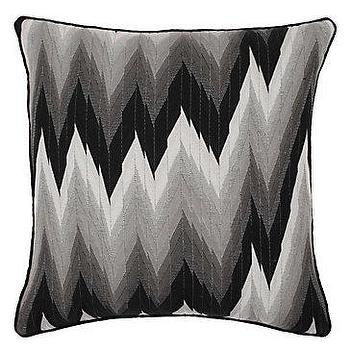 Pillows - Z Gallerie - Chevron Pillow 24 - chevron, pillow, black