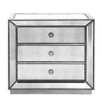 Storage Furniture - Z Gallerie - Omni Mirrored Chest - 3 Drawer - omni, mirrored, chest