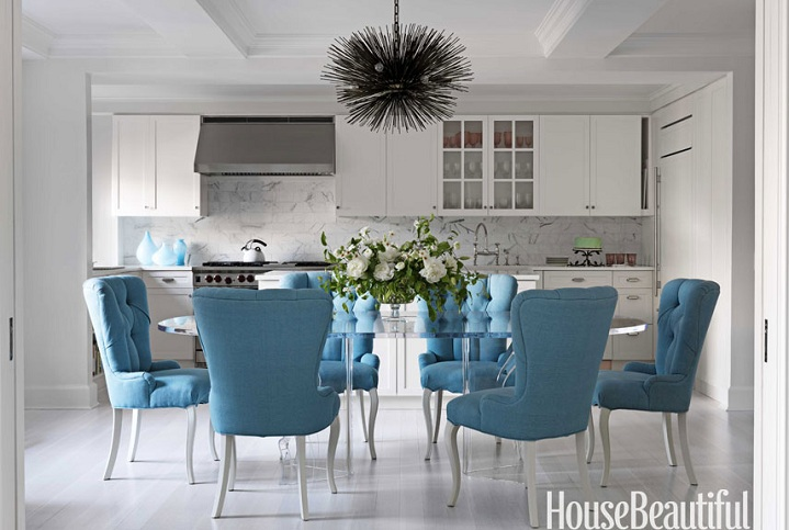 Turquoise Dining Chair Eclectic Dining Room House