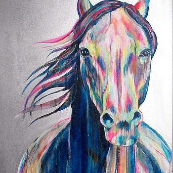 Art/Wall Decor - JR Ewing Original Horse Painting 36x48 painting by JenniferMoreman - horse, painting, art