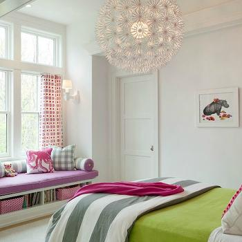 Ikea Chandelier, Contemporary, girl's room, Liz Caan Interiors