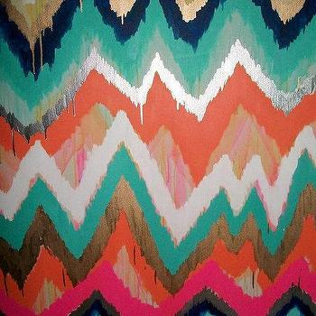 Smitten Too Original ikat chevron 36x48 by JenniferMoreman on Etsy