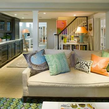 Basement Playroom, Contemporary, basement, Liz Caan Interiors
