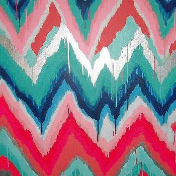 Art/Wall Decor - S'Wonderful Original ikat chevron 36x48 by JenniferMoreman on Etsy - s'wonderful, ikat, chevron, painting, art
