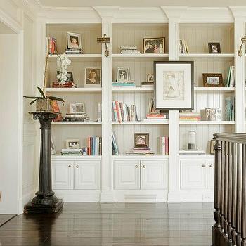 Built In Bookshelves, Transitional, entrance/foyer, Abbott Moon