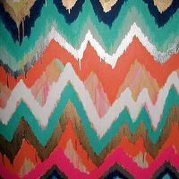 Art/Wall Decor - Smitten Too Original ikat chevron 36x48 by JenniferMoreman on Etsy - smitten, ikat, chevron, painting, art