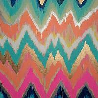 Art/Wall Decor - Custom ikat chevron 30x30 Painting by Jennifer by JenniferMoreman - ikat, chevron, painting, art