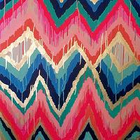 Art/Wall Decor - Sorbet Original ikat chevron 36x36 Painting by by JenniferMoreman - sorbet, ikat, chevron, painting, art