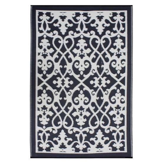 Cream and Black Venice Rug by Fab Habitat, Spark Living, online boutique for unique home decor, gifts and accessories