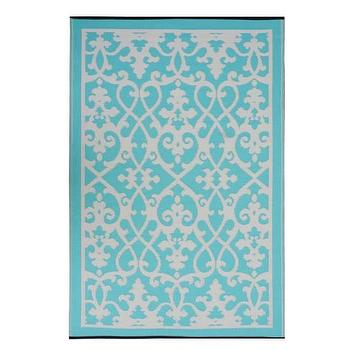 Rugs - Cream and Turquoise Venice Rug by Fab Habitat - Spark Living - online boutique for unique home decor, gifts and accessories - venice, ruf, cream, turquoise
