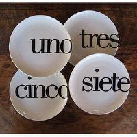Decor/Accessories - Odd Little Spanish Number Plates by Christopher Jagmin - Spark Living - online boutique for unique home decor, gifts and accessories - odd, little, number, plates
