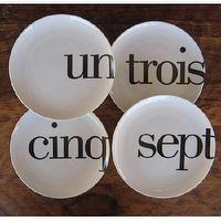 Decor/Accessories - Odd Little French Number Plates by Christopher Jagmin - Spark Living - online boutique for unique home decor, gifts and accessories - odd, little, french, number, plates