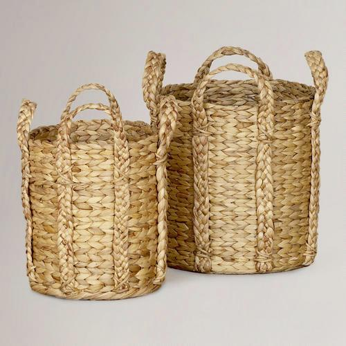 Decor/Accessories - Keira Braided Handle Totes | World Market - keira, braided, baskets