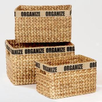 Decor/Accessories - Hayden Organize Baskets | World Market - hayden, organize, baskets