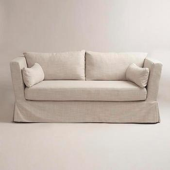 Seating - Linen Crosby Sofa Slipcover | World Market - linen, crosby, sofa, slipcover