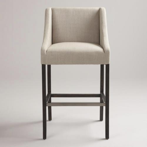 Seating - Linen Hayden Barstool | World Market - linen, hayden, barstool