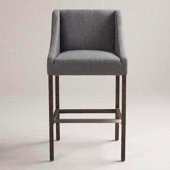 Seating - Grey Hayden Barstool | World Market - grey, hayden, barstool