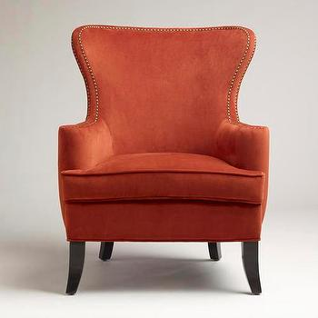 Seating - Nutmeg Elliott Wingback Chair | World Market - nutmeg, elliot, wingback, chair