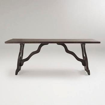 Tables - Weathered Gray Romeo Dining Table | World Market - weathered, gray, romeo, dining table