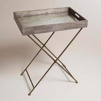 Tables - Mirrored Wood Butler Tray | World Market - mirrored, wood, butler, tray