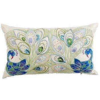 Pillows - Mirrored Peacock Pillow - Pier1 US - mirrored, peacock, pillow