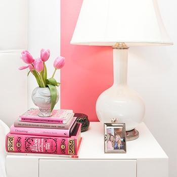 Teen Vogue - bedrooms - parsons end table, parsons table, white parsons end table, white parsons table, west elm end table, white end table, white nightstand, parsons nightstand, white parsons nightstand, white lamp, white tufted headboard, West Elm Parsons End Table,
