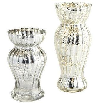 Decor/Accessories - Mercury Glass Vases - mercury glass, vase