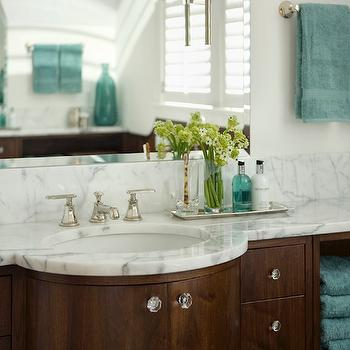 Teal and Brown Bathroom, Contemporary, bathroom, Siemasko & Verbridge