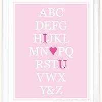 Art/Wall Decor - Alphabet Art I Love You 11x14 Poster in by AsYouWishPrinting - alphabet, art, print