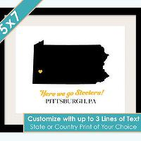 Art/Wall Decor - State or Country Love Silhouette 5x7 Print by AsYouWishPrinting - state, country, silhouette