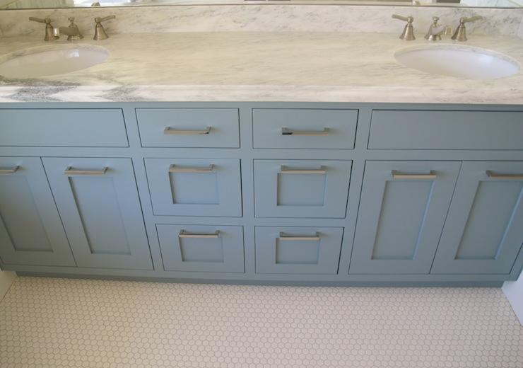 Blue Bathroom Vanity Contemporary Benjamin