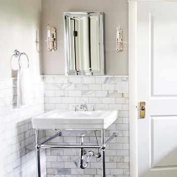 Revere Pewter, Contemporary, bathroom, Benjamin Moore Revere Pewter, White & Gold Design