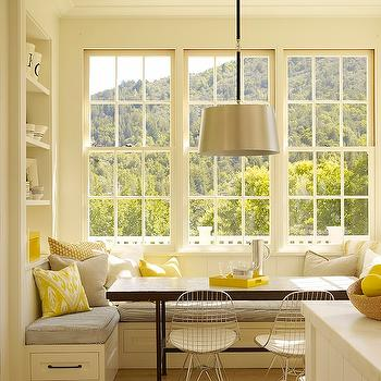 Yellow and Gray Kitchen, Transitional, kitchen, Ken Linsteadt Architects