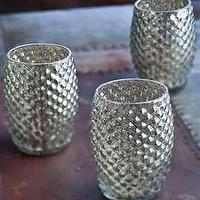 Decor/Accessories - Hobnail Mercury Glass Votive Candle Holder </center> - hobnail, mercury, glass, votives