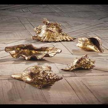 Gold Leafed Shells