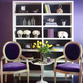 Purple Chairs, Contemporary, den/library/office, Decor Demon