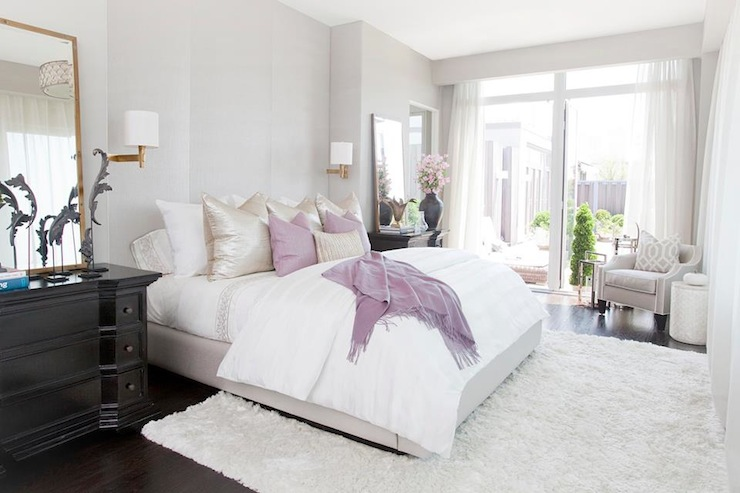 Gray and purple bedroom contemporary bedroom carlyle - Lavender and gray bedroom ...